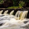 Falls on the Ontonagon River by Bond Falls in Michigan