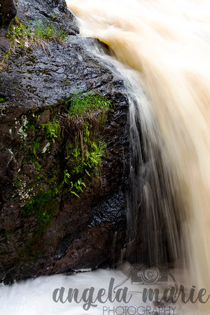 Water over a rock in Amnicon Falls State Park, Wisconsin