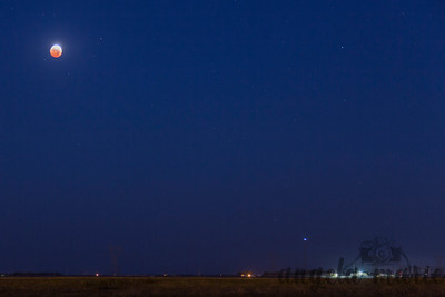 Lunar Eclipse Over West Fargo on Oct 8th 2014