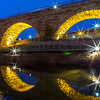 Stone Arch Bridge and Reflection, Minneapolis, MN