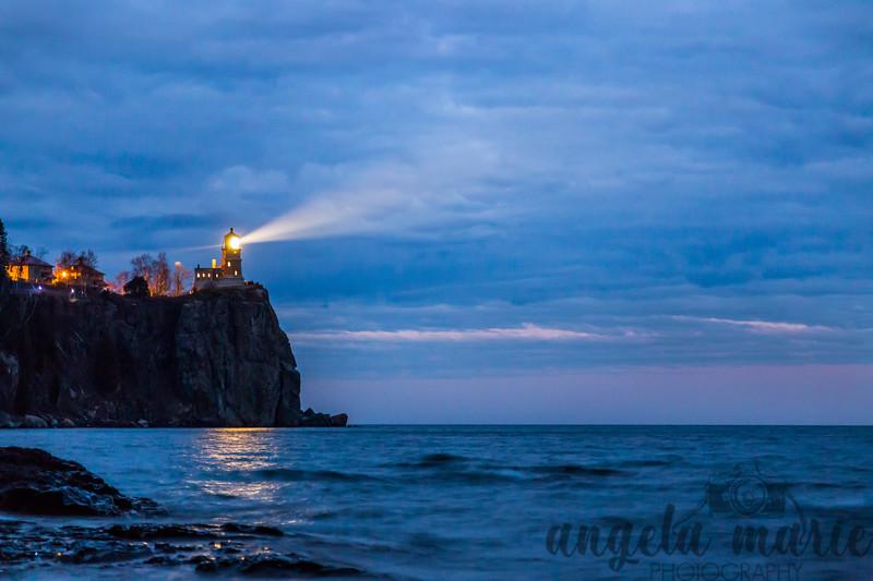 Splitrock Lighthouse Lighting for Anniversary of Edmund Fitzgerald Sinking