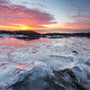 Sunrise and Ice on Lake Superior - Lighthouse Point, Two Harbors, MN