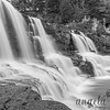 B&W shot of the Middle Falls at Gooseberry Falls State Park in Minnesota