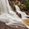 Side view of the Middle Falls at Gooseberry Falls State Park in Minnesota