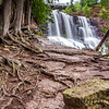 Middle Falls at Gooseberry Falls State Park in Minnesota
