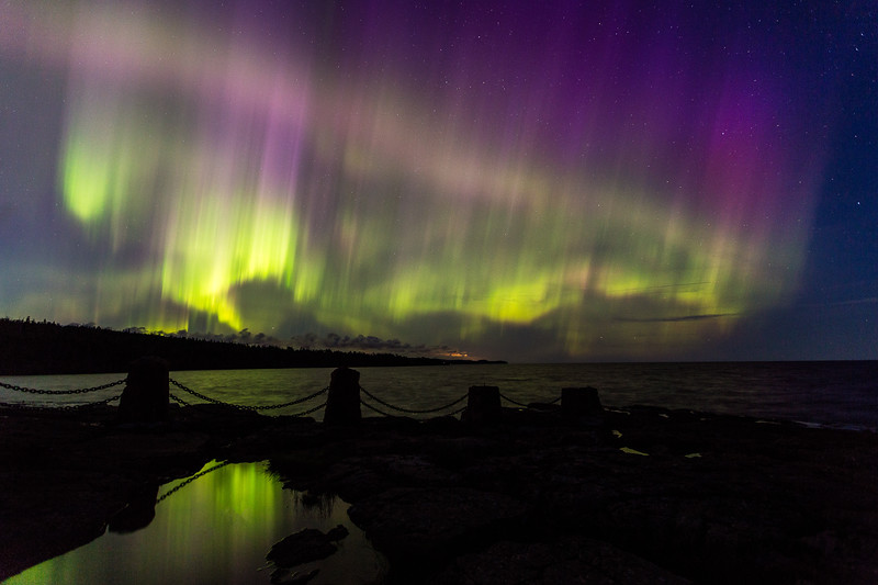 Northern Lights Over Lake Superior - Gooseberry Falls State Park #3