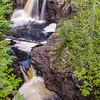 Falls at Cascade River Falls State Park in Minnesota