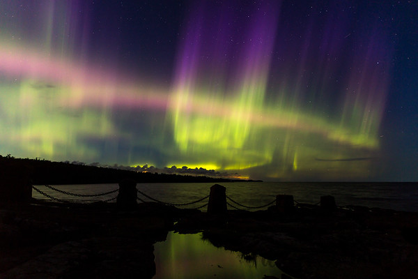Northern Lights Over Lake Superior - Gooseberry Falls State Park #1