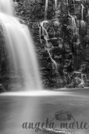 B&W Closeup of the Lower Falls at Gooseberry Falls State Park