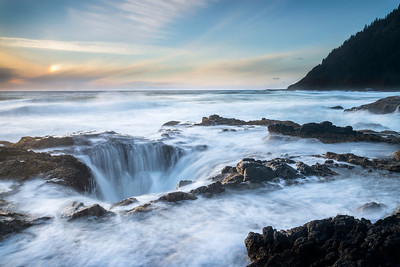 Thor's Well Sunset - Orgegon