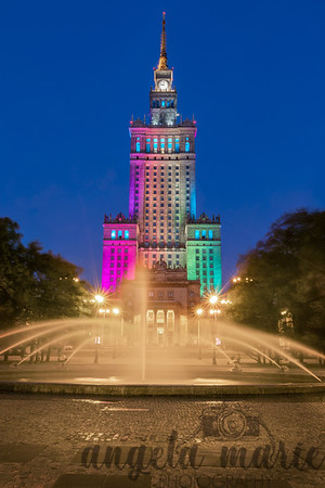 Blue Hour at the Palace of Science and Technology - Warsaw, Poland.