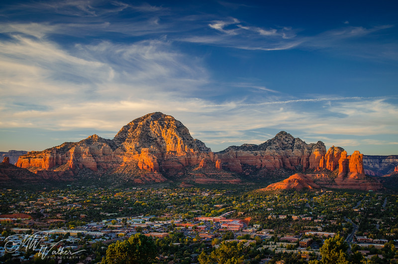 Coffee Pot Rock Sunset - Sedona, Arizona