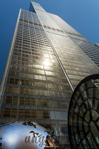 Willis Tower (formerly known as Sears Tower) stretching towards the heavens.