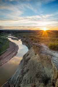 Wind Canyon Sunset - Theodore Roosevelt National Park