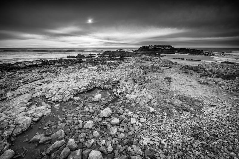 Pescadero Beach Monochrome