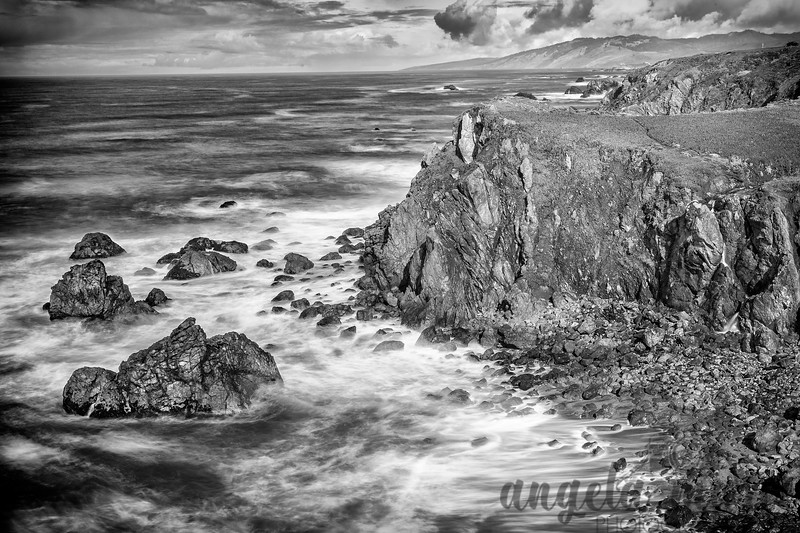 California Coast Monochrome