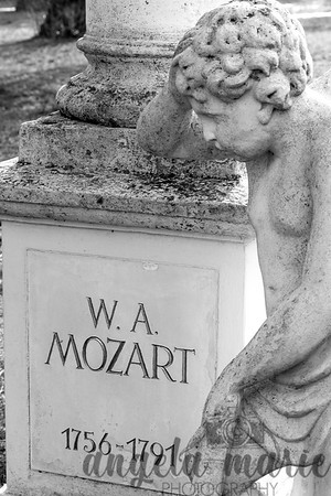 Mozart Grave Close Up at St. Marx Cemetery