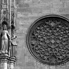 Closeup of details on the exterior of Stephansdom (St. Stephen's Cathedral)