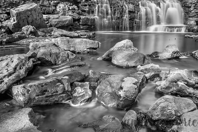 Rocks and Upper Falls at Minneopa State Park near Mankato, Minnesota