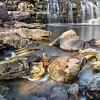 Rocks and Upper Falls at Minneopa State Park near Mankato, Minnesota