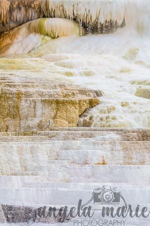 Terraces Closeup - Near Mammoth Hot Springs