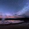Stars Over Grand Fountain Basin - Firehole Lake Drive