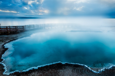 Black Pool at Sunrise - West Thumb Geyser Basin