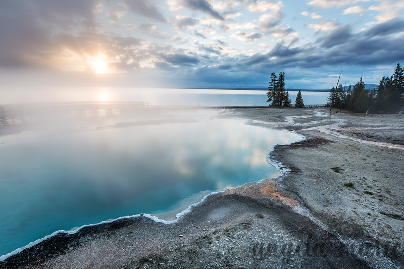 Black Pool at Dawn - West Thumb Geyser Basin