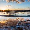 Great Fountain Geyser Sunset - Firehole Lake Drive