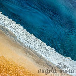 Crested Pool Closeup I - Upper Geyser Basin