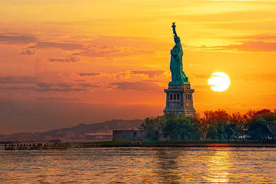 Lady Liberty's Sunset