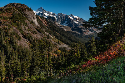 Snow Capped Mountains in Fall