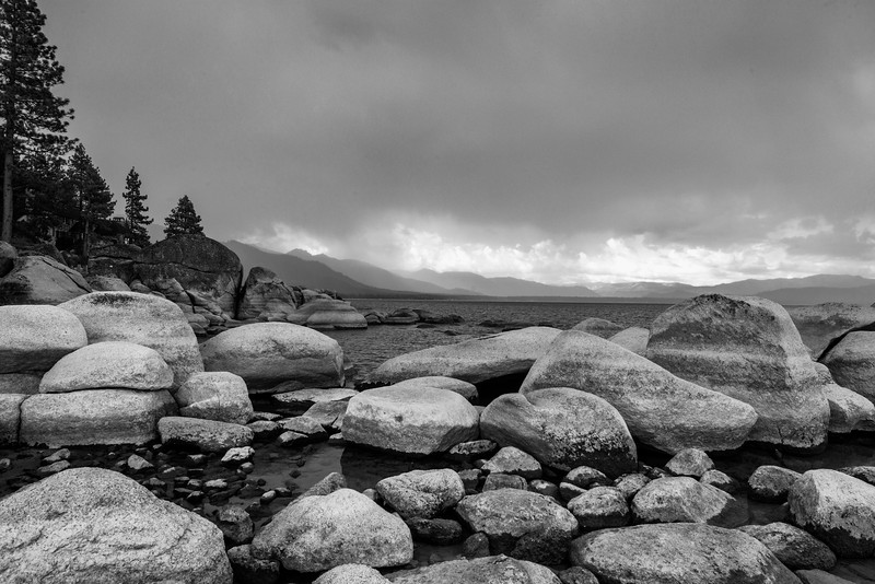 Beach Rocks, Approaching Storm