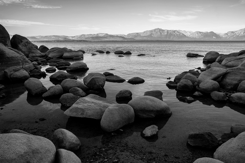 Beach Rocks (monochrome)