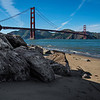 Golden Gate with Rocks