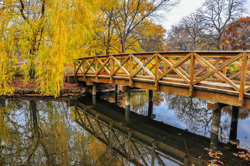 A Footbridge in Autumn