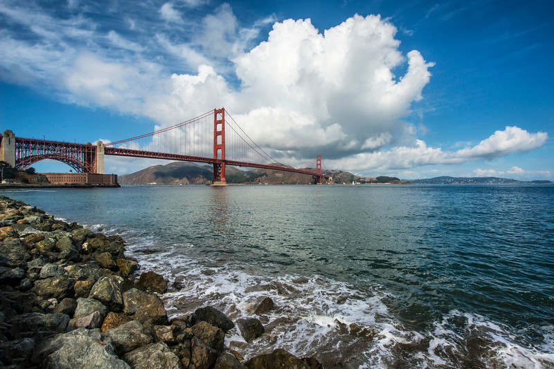 Golden Gate Under a Cloud