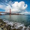 Golden Gate Under a Cloud