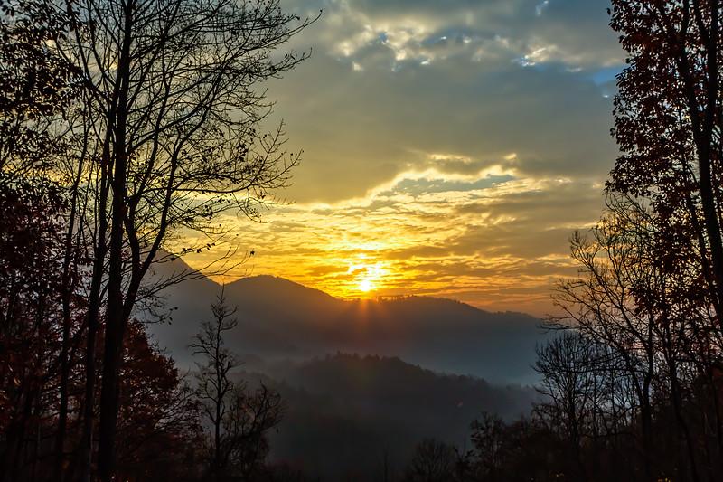 Sunrise in Deep Gap