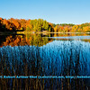 Blue skies and autumn reflections over Mueller Lake near Polar Wisconsin (USA WI Polar; RAO 2012 Nikon D800 Image 6333)