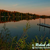 Autumn reflections at sunset over Mueller Lake within northeastern Wisconsin near Polar (USA WI Polar)