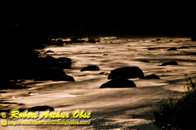 Moonlight Magic over Sherry Rapids on the wild Wolf River (USA WI White Lake)