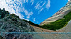 Following a Path from the Past - Blue skies over colorful Rainbow Ridge along the historical Richardson Highway or Alaska Highway 4 and Phelan Creek near the Delta River Valley and Paxson (USA Alaska Paxson; Obst FAV Photos 2011 Nikon D300 Image 0503)