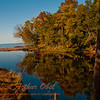 Boreal forest autumn reflections at the mouth of the Presque Isle River by Lake Superior within Porcupine Mountains Wilderness State Park and Presque Isle River Scenic Area (USA MI Ontonagon)