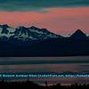 Rosy early morning sunrise over Grewingk Glacier and the Kenai Mountains within Kachemak Bay State Park on the Kenai Peninsula (USA Alaska Homer)