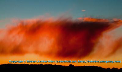 Strange crimson clouds and sky over the Wolf River Refuge woods at sunset (USA WI White Lake; LISS_3192_WRR.BEN.WI.Langlade.CrimsonCloudsOverWolfRiverRefugeWoodsAtSunset-B)