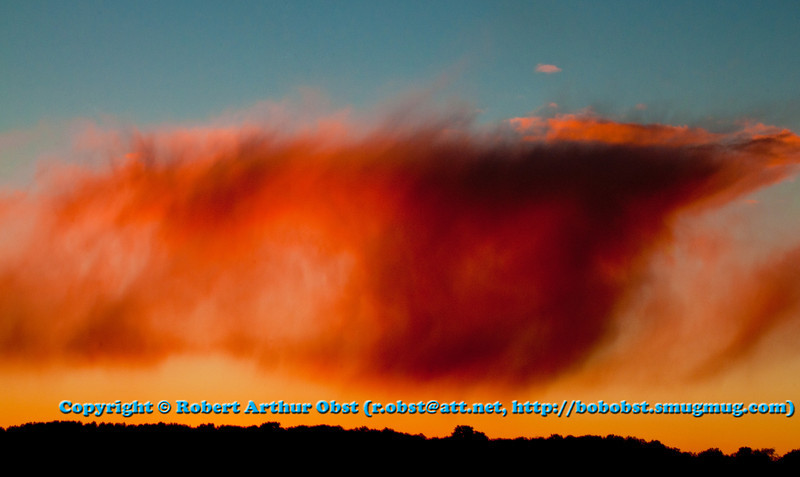 Strange crimson clouds and sky over the Wolf River Refuge woods at sunset (USA WI White Lake; LISS_3192_WRR.BEN.WI.Langlade.CrimsonCloudsOverWolfRiverRefugeWoodsAtSunset-B)