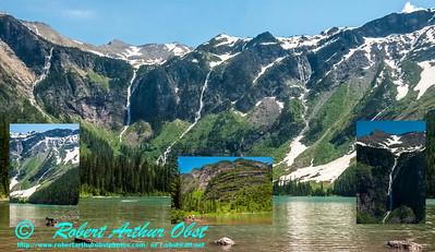 DBO-Collage_7048-7034-7046-7050_ATO.WestUSACanada2014-USA.MT.GlacierNP.AvalancheLakeTrail.SnowyMountainsWaterFalls-B (DSC_7048-7034-7046-7050.NEF)