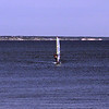 Windsurfing on the glass of Cape Cod Bay.