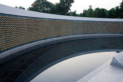 The National World War II Memorial Washington D.C. June 14th, 2006 Each of the 4,000+ stars represents part of the 400,000+ lost in the war.